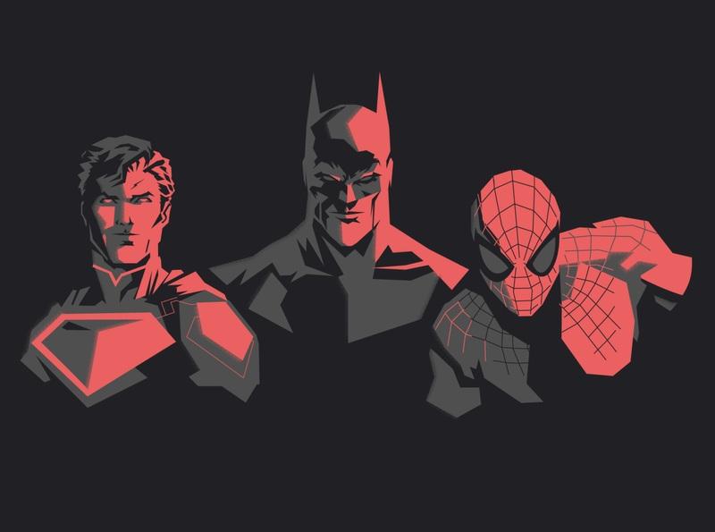 Superman, Batman And Spider-Man In Indian Comics