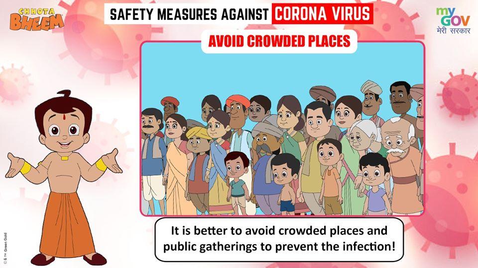 Chota Bheem Avoid Crowded Place