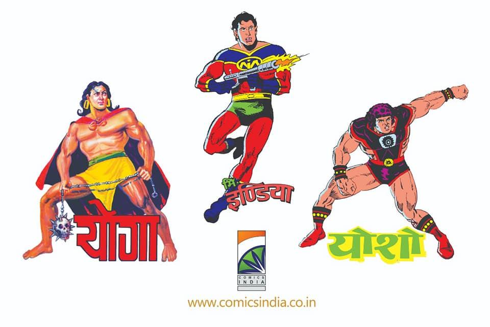 Tulsi Comics - Comics India Novelty Items - Yoga, Mr. India And Yosho