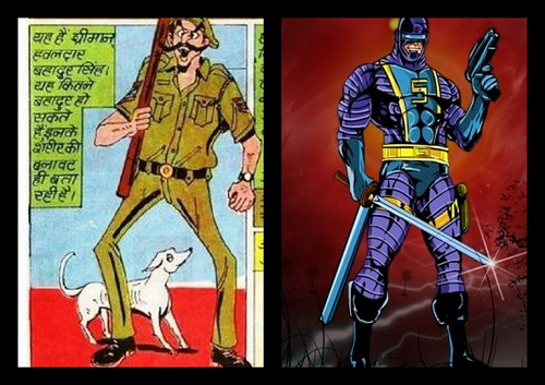 Hawaldar Bahadur Aur Shaktiputra -  Manoj Comics And Radha Comics