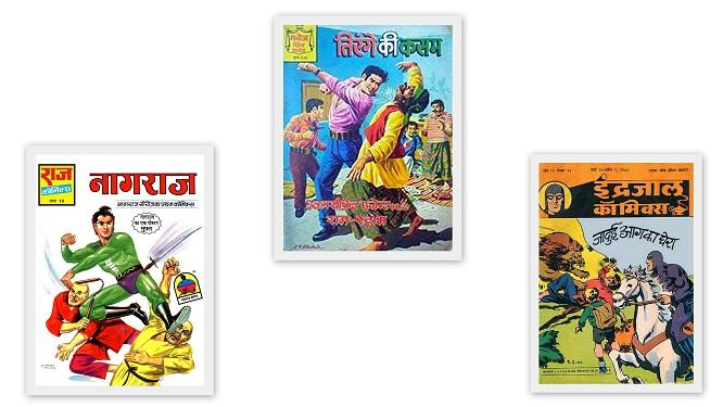 राज कॉमिक्स - मनोज कॉमिक्स - इंद्रजाल कॉमिक्स