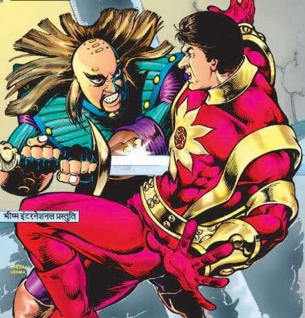 शक्तिमान और कष्टक राज कॉमिक्स आर्टवर्क: धीरज वर्मा
