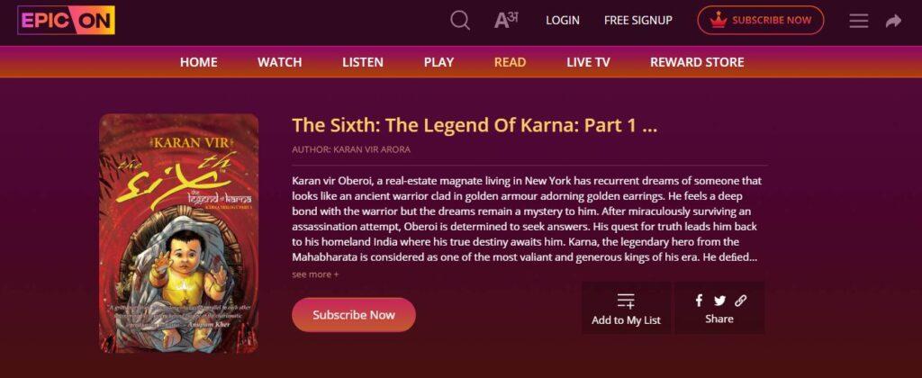 The Legend Of Karna