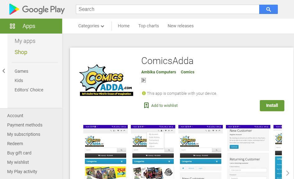 Comics Adda App - Google Play