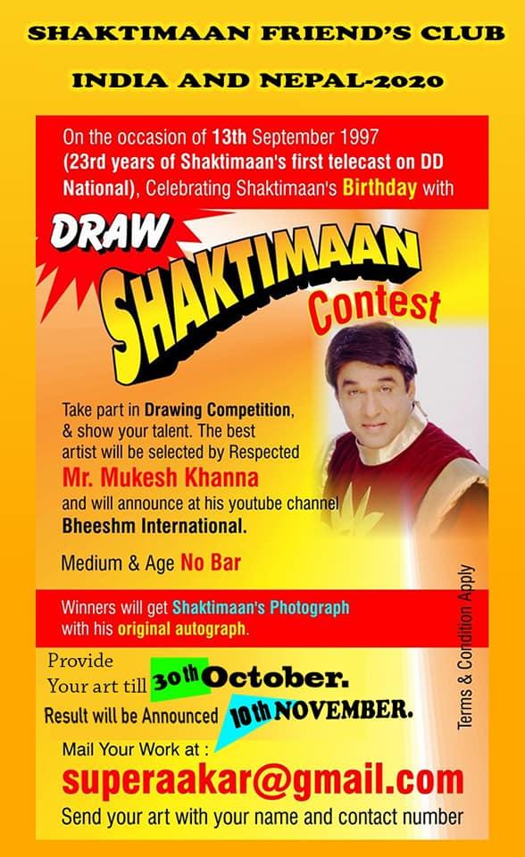 Draw Shaktimaan Contest