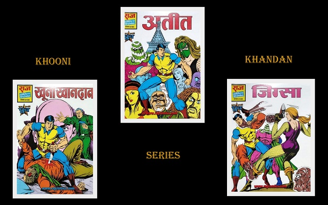 Khooni Khandaan Series - Raj Comics - Super Commando Dhruva