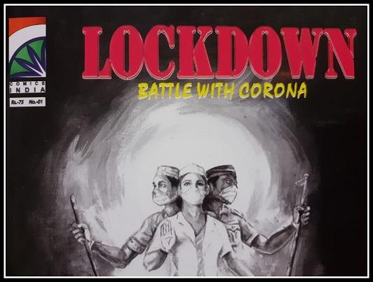 LOCKDOWN - Battle With Corona - Comics India