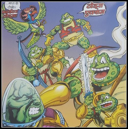 Toads Action - Fighter Toads - Sarvnayak Series - Raj Comics