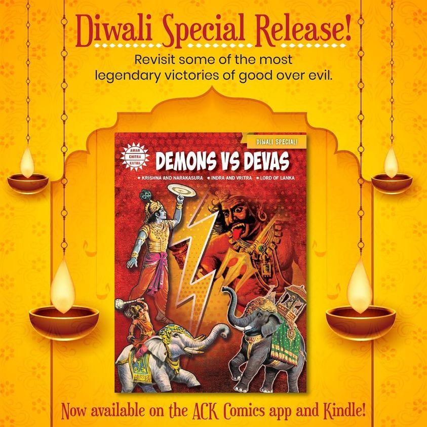 Demons Vs Devas - Amar Chitra Katha