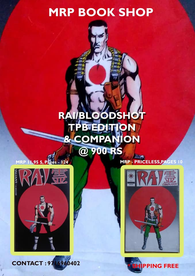 Valiant Comics Bloodshot Rai Pack