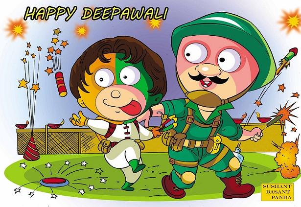Happy Diwali: Tiranga and Army Jawans - Raj Comics