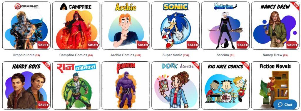 Hello Book Mine - Raj Comics, Graphic India, Campfire, Hardy Boys, Nancy Drew, Sonic, Archie, Sabrina