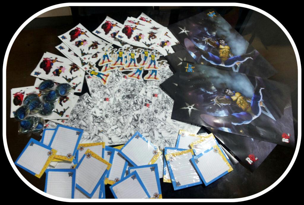 Raj Comics Novelty - Notepad - Sticker - Poster - Magnet Sticker - Cards - Tin Badges