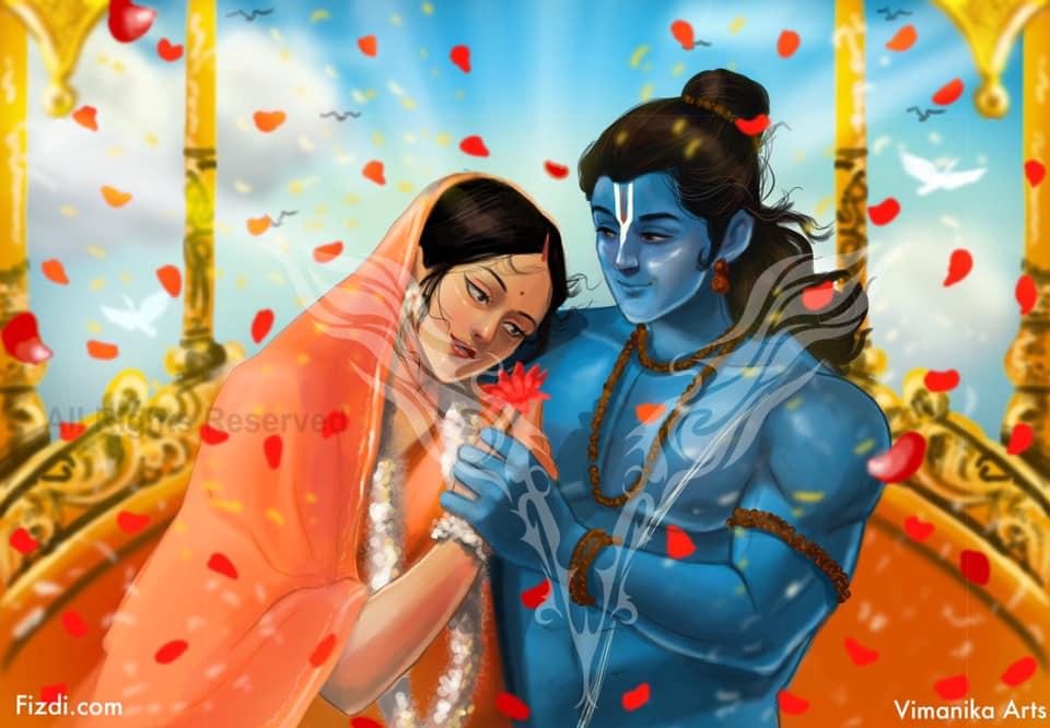 Vimanika Comics - Shri Ram And Sita - Artwork