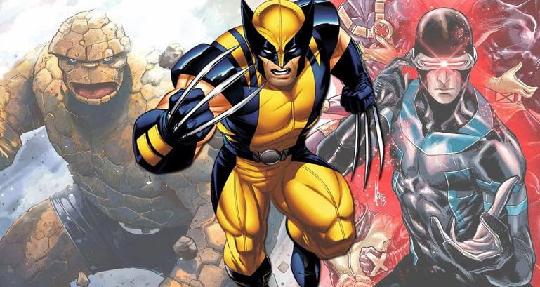Wolverine, The Thing And Cyclops - Marvel Comics