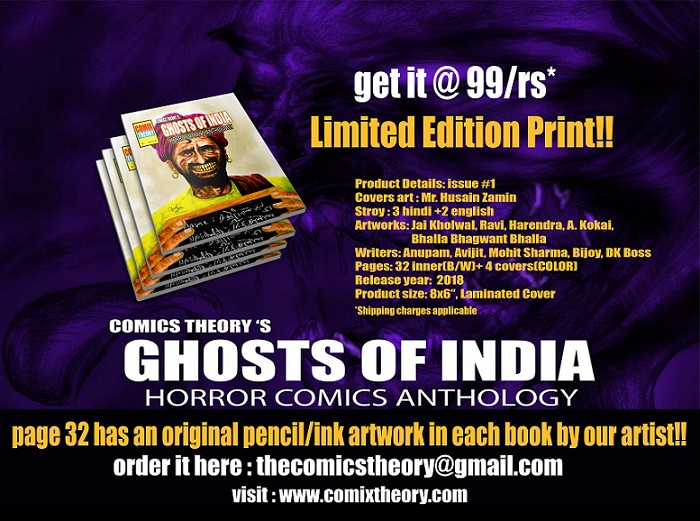 Ghost Of India - Limited Prints - Comix Theory