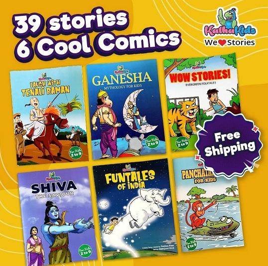 KathaKids High Five! - Ganesha, Shiva, Tenali Raman, Evergreen folktales & Panchatantra