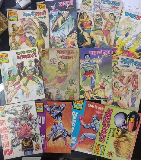 Raj Comics By Manoj Gupta - Chamtkari Bhokal Series And Doga Training Series