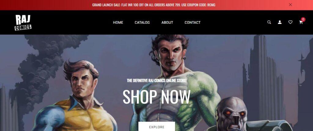 Raj Comics By Manoj Gupta - Website
