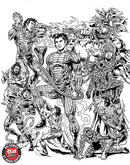 Raj Comics By Manoj Gupta - Nagraj Yatra Vritant 2 CE Cover
