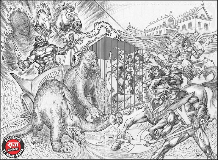 Raj Comics By Manoj Gupta - Yugnayakam - Khalnayak Comics - Mahanayak Comics