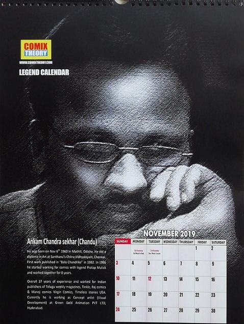 Comix Theory - Legend Calendar 2019 - Artist Chandu