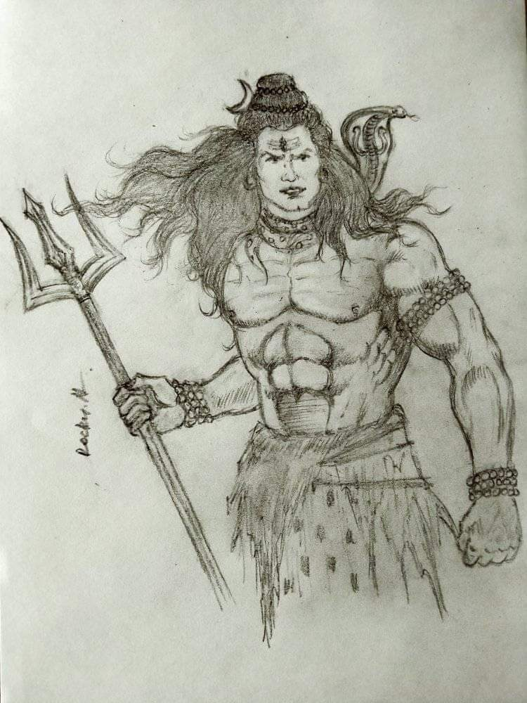 Angry Shiva By Rocky M