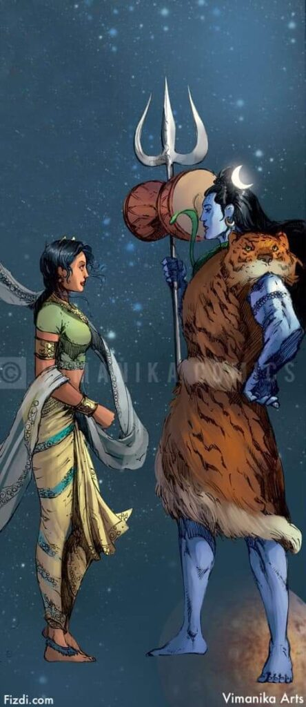 Vimanika Arts - Mahadev & Mata Parvati