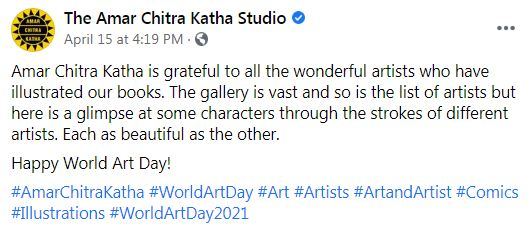Happy World Art Day - Amar Chitra Katha