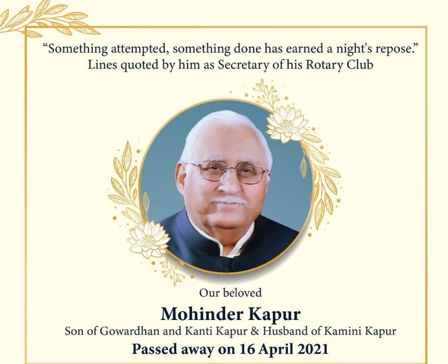 Shri Mohinder Kapur Ji - Madhu Muskaan