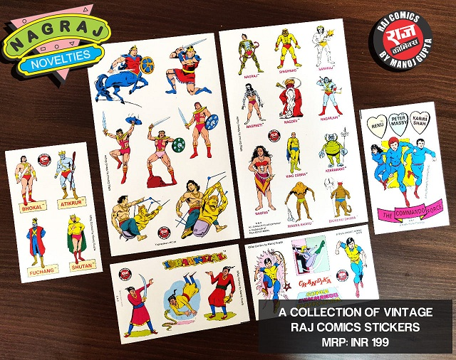 Nagraj Novelties - Super Commando Dhruva Paper Stickers - Raj Comics