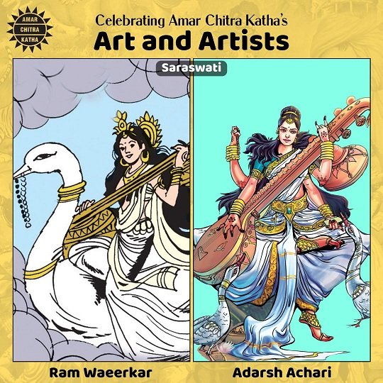 Saraswati - Ram Waeerkar and Adarsh Achari
