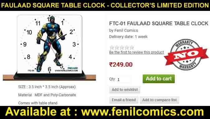 Faulad Table Clock