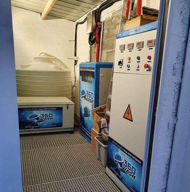 salle de contrôle de lavage de voiture automatique