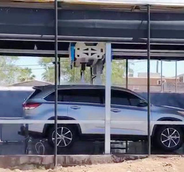 sistema de lavado de autos