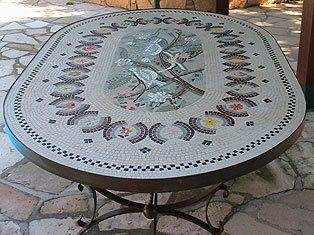 Mosaic Art - Mosaic Table Completed