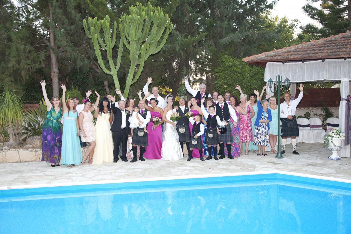 Cyprus Wedding Villas - After the wedding ceremony - Group photo