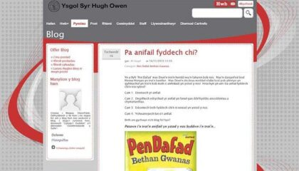 Using Hwb+ to develop literacy and use of welsh language