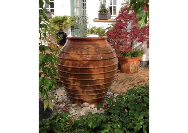 Koronios terracotta pot from The Cretan Pot Shop Rugby Warwickshire