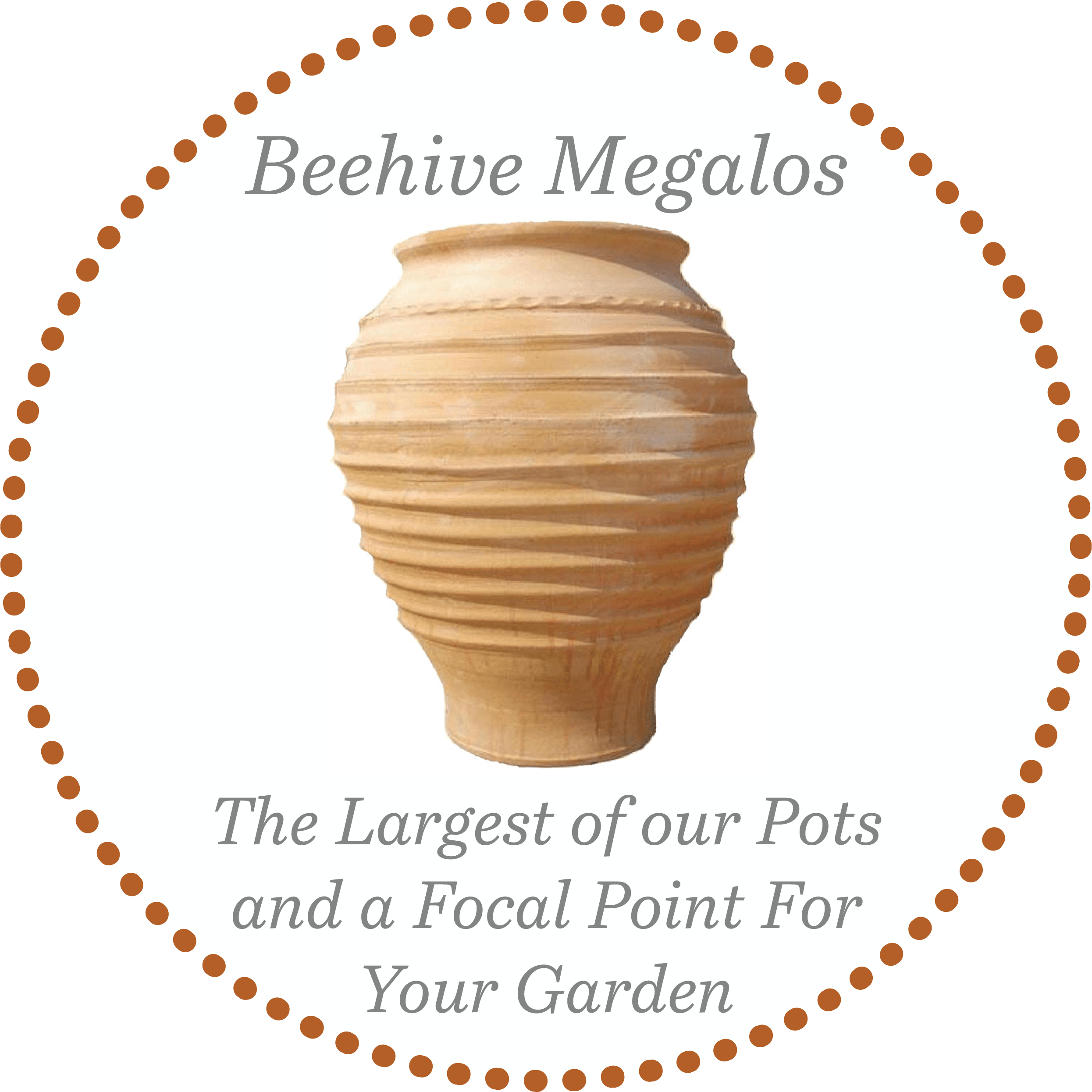 Beehive Megalos Large Terracotta Pot from The Cretan Pot Shop