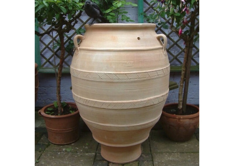 Phestos terracotta pot from The Cretan Pot Shop Rugby Warwickshire