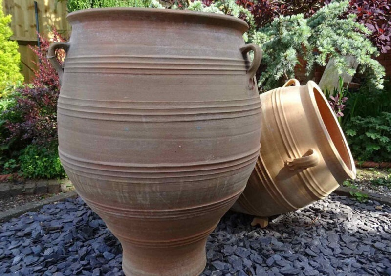 Pithari terracotta pot from The Cretan Pot Shop Rugby Warwickshire