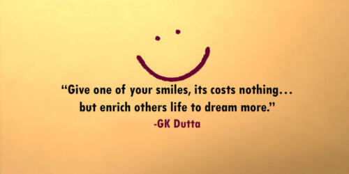 Give one of your smiles
