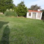 jardín parte casa barbacoa