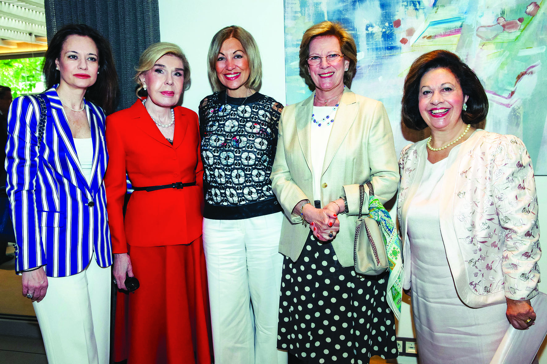 Stella Alexia Mantzari, Marianna Vardinoyianni, Eleni Bousis, Queen Anna Maria of Greece, HRH Crown Princess Katherine of Serbia