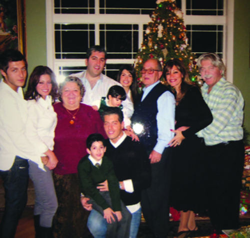 Eleni Bousis family, with her children and grandchildren