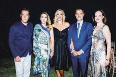 Dr. Zissis Boukouvalas, Alkistis Prinou Boukouvala, the Minister of Tourism Haris Theoharis with his spouse Dimitra, Alexia Stella Mantzari