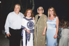 Mrs Voula Sarantari with Dr. Stefanos Tsipourakis and his wife Joan and the President Eleni Triantafyllou