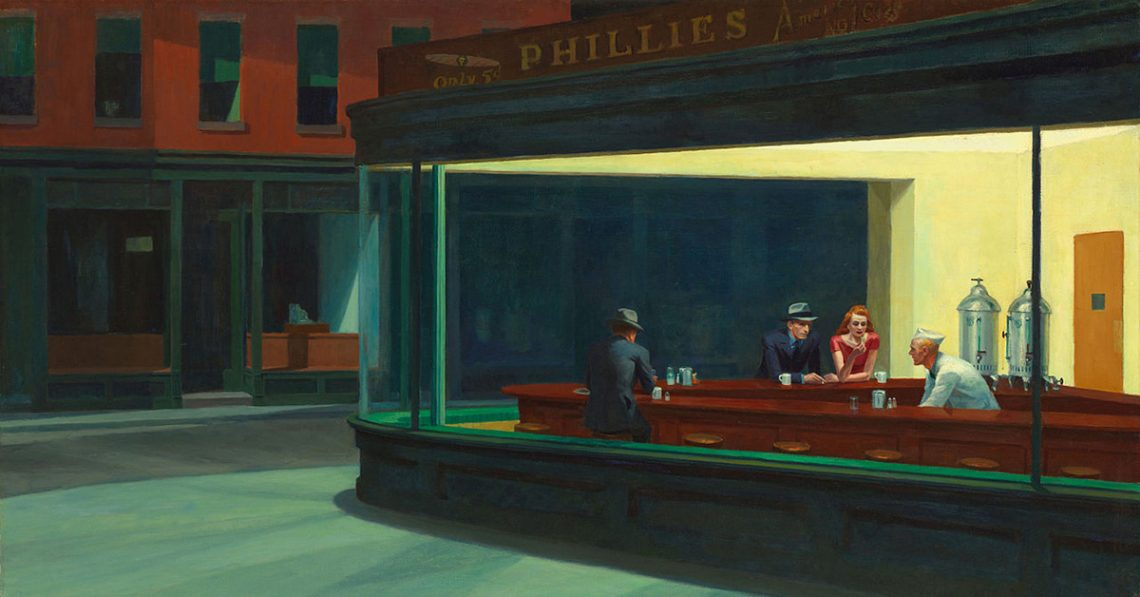 Edward Hopper [1882 – 1967]  the most important realist painter of the 20th century