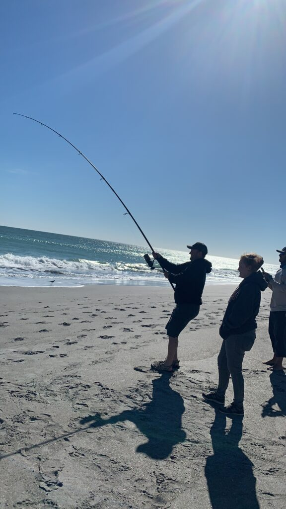 Surf Fishing in Sebastian Inlet